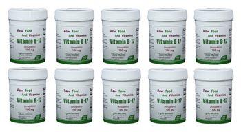 10 Bottles of 100mg Vitamin B17 (1000 TABLETS Total)