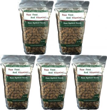 5 of the 2 Pound Bags of Raw Apricot Seeds ( 10 Pounds Total )
