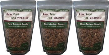 3 of the 1 Pound Bags of Raw Apricot Seeds ( 3 Pounds Total )