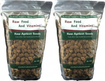 2 of the 2 Pound Bags of Raw Apricot Seeds ( 4 Pounds Total )