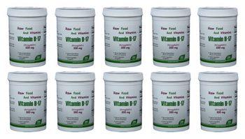 10 Bottles of 500mg Vitamin B17 (1000 TABLETS Total)