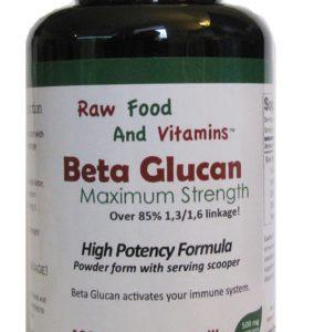 Beta Glucan Bulk Raw Powder - 200 Servings of 500mg