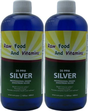 2 Bottles Angstrom Silver Solution 16oz 96 servings Each