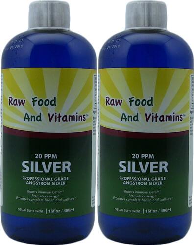 2 Bottles Angstrom Silver Solution 16oz 96 servings Each