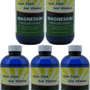 5 Bottles Ionic Magnesium Mineral Concentrate 8oz Each