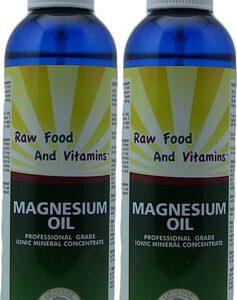 2 Bottles Magnesium Oil Spray 100% Pure Magnesium 8oz Each