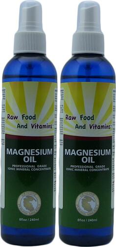 2 Bottles Magnesium Oil Spray 100% Pure Magnesium 8oz Each
