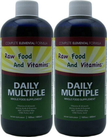 2 Bottles of Whole Food Multivitamin, Minerals Plus... 16oz Each