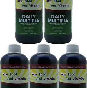 5 Bottles of Whole Food Multivitamin, Minerals Plus... 16oz Each