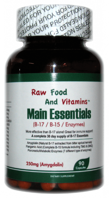 1 Bottle of Main Essentials - 12 in 1 Formula Vitamin B17 Plus (90 CAPSULES)