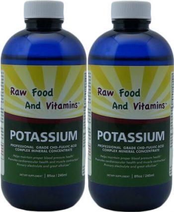 2 Bottles of Liquid Ionic Potassium 8oz Each