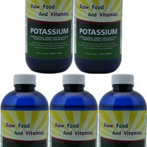 Bottles of Liquid Ionic Potassium 8oz Each