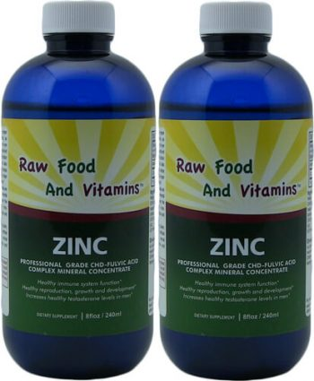 2 Bottles Liquid Ionic Zinc Mineral 8oz Each