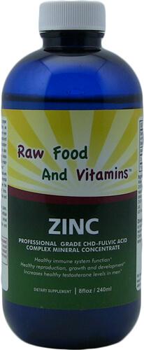 1 Bottle Liquid Ionic Zinc Mineral Concentrate 8oz